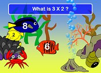 Times Tables Games - Fishy Tables